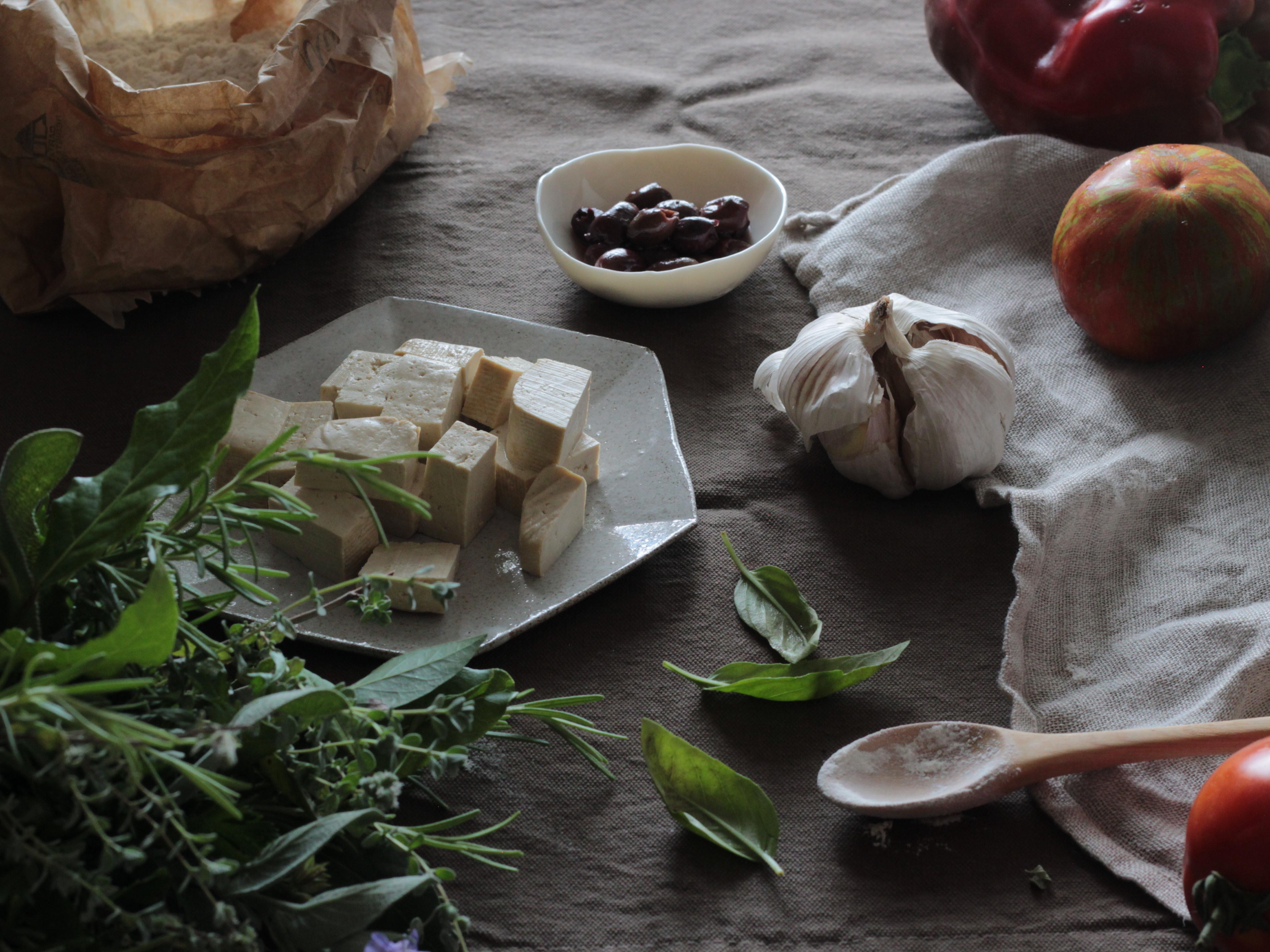 ingredienti per crema di tofu