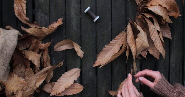 festone di foglie secche