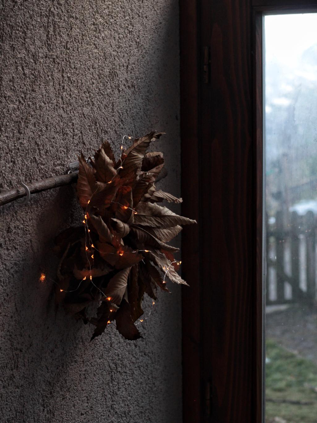 stella fiore di castagno con lucine all'entrata